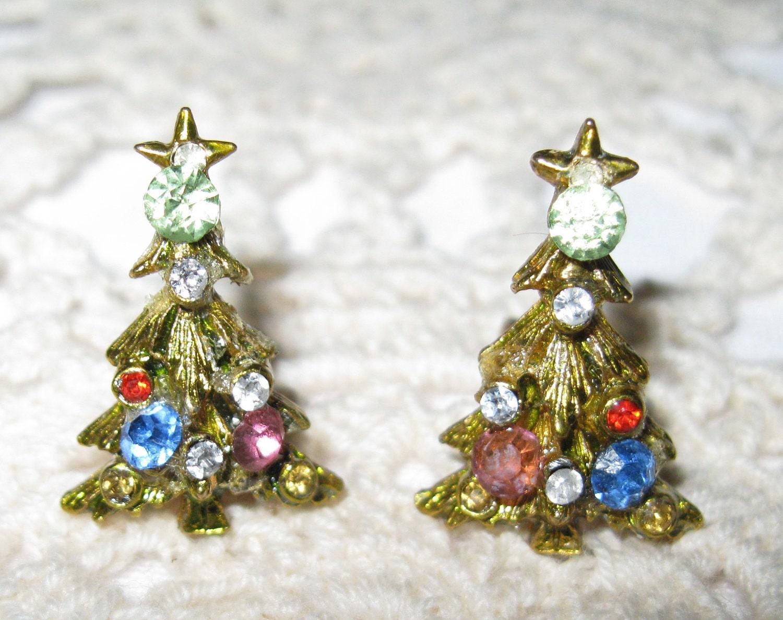 Christmas in july vintage gemstone decorated tree