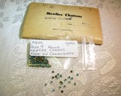 Vintage Aqua Rhinestones Newfire Chatons Glass Stones Foil back Round Size 9 Czechoslovakia 144