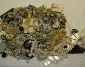 Broken  Fix Repair Harvest Lot Rhinestone Jewelry 3.11 pounds Vintage Older Pieces