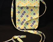 Hip Bag Crossbody - Yellow, Green, and Navy Blue