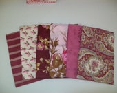 October Skies by Verna Mosquera for Free Spirit 6 Fat Quarters Cotton Fabric-Plum