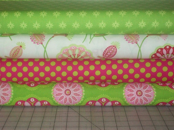 Gypsy Bandana by Pillow & Maxfield for Michael Miller Cotton Fabric 4 Fat Quarters Bundle