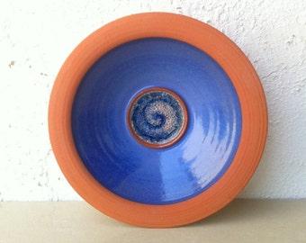Vintage 90's Handmade Serving Pottery Bowl