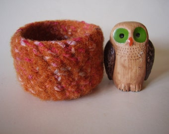 wee felted wool bowl ring holder small container
