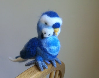 Parakeet, Budgie - Needle Felted Wool