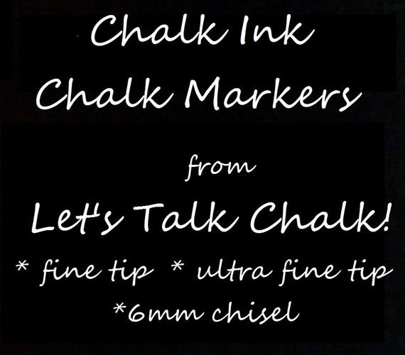 2 Chalk Ink Chalk Markers Fine Tip 1.0 White Works Great on our Eco-Friendly Vinyl Chalkboards and Labels