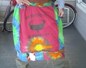 Tie-Dye Recycled T-shirt Skirt