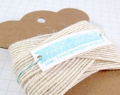 3 Yards of Cream Jute Ribbon