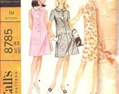 1960s FLARED dress WELTS McCall's 8785 size 14 bust 34