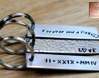 Set of Three Key Chains - Custom Made to Order Personalized Keychains