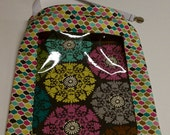 Mulit Color Medallions -Easy Find REVERSIBLE Car Storage Bag