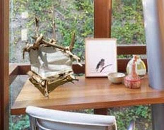 "ECO Friendly Table Lamp: ""Starlight"" Natural Driftwood & Handmade Paper Latern / Lighting-OOAK"