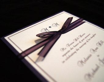 Simply Purple Custom Wedding Invitation