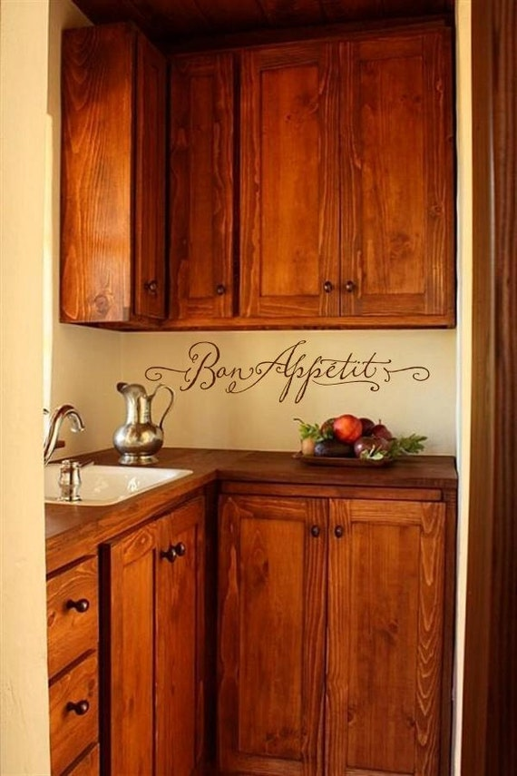 Items Similar To Bon Appetit Kitchen Wall Decal On Etsy