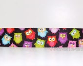 Sweet-Sweat-Bands.....Who's there (multi colored owls non-slip headband).