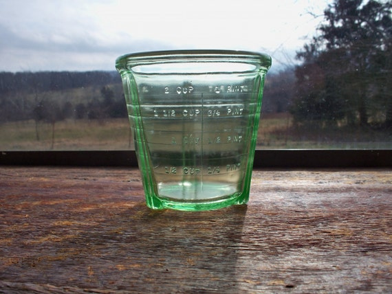 Hocking Green Depression Glass Beater Mixing Cup Only