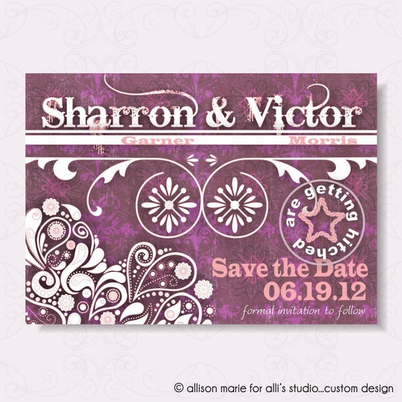 Save the Date Yee Haw: 5x7 Announcement, Metallic Pearl Envelope
