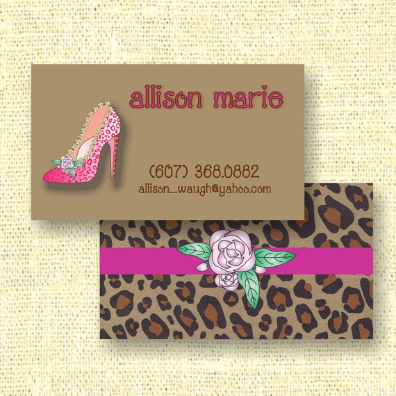 High Heel Pump Calling Card / Custom Business Card / Mommy Card / Earring Card