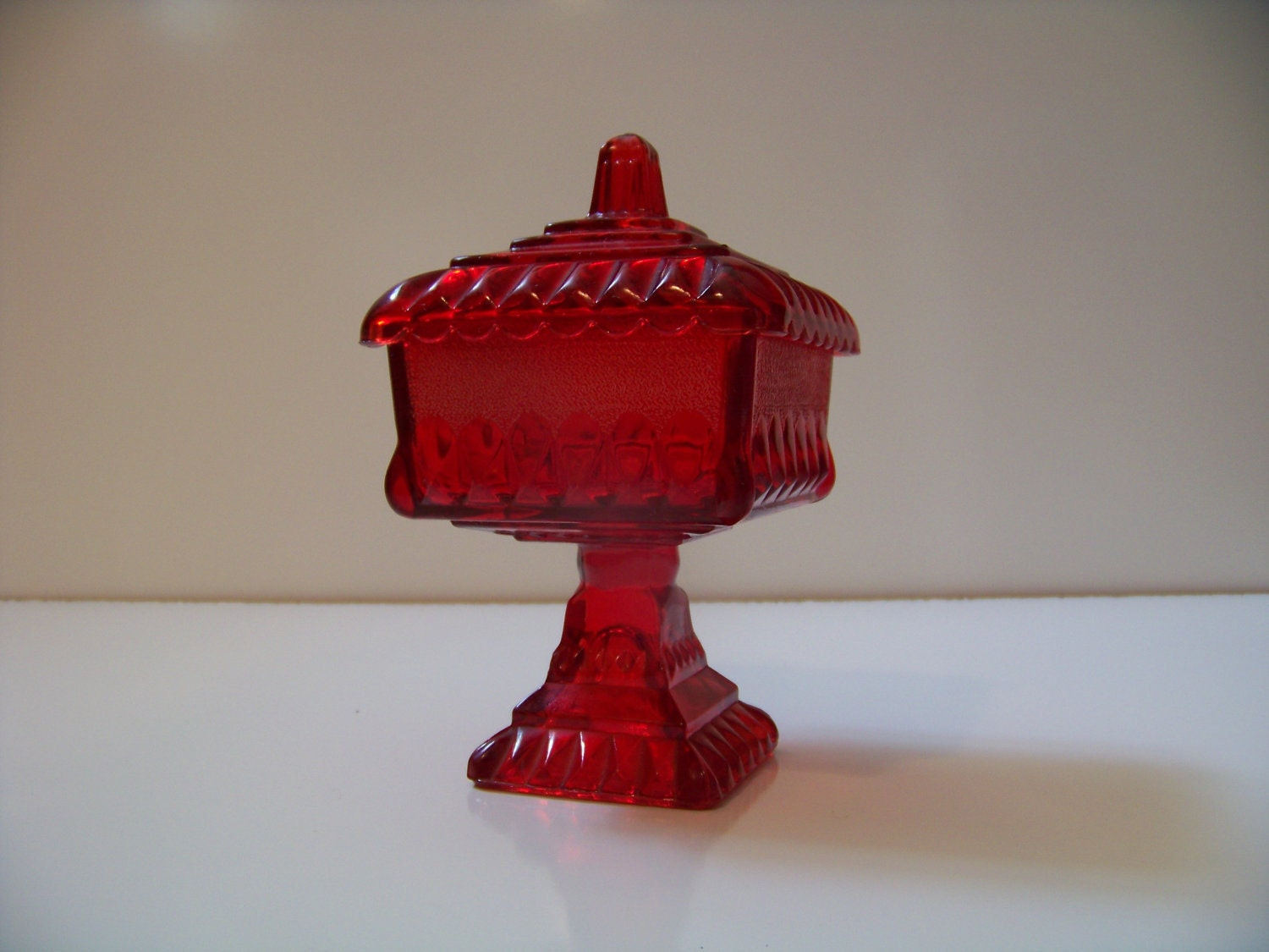 Antique Red Glass Dishes