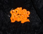 ROLLER DERBY keychain Vintage style Boogie fever