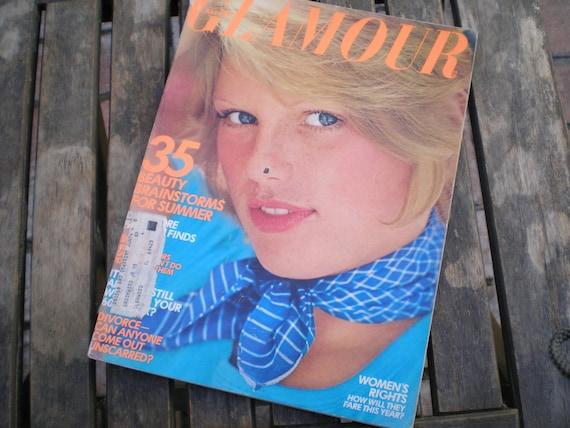 Vintage 1970s Glamour Magazine July 1973 Patti Hansen Cover