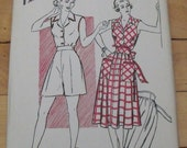FREE SHIP 1941 Hollywood Pattern - 696 - Shorts, Blouse and Skirt - Size 13, Bust 31
