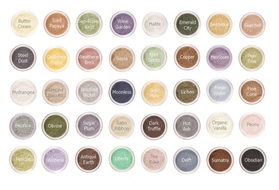 CHOOSE 10 - Mineral Eyeshadow Mineral Makeup Sampler - Your Choice of 10 FULL SIZE Eyeshadows