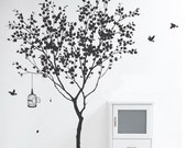 Tree Wall Decals, Wall stickers, wall decor  Graphic- tree with bird