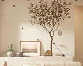 Vinyl Tree decals wall decals wall stickers wall art  wall decals room decor  wall art wall decor -tree with bird
