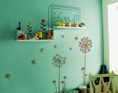 """Dandelions Wall Decal  Wall Stickers -Dandelions 60"""" tall"""