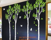 Tree Wall Decals Wall stickers wall decor 4 100in Birch Trees