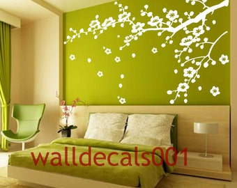 Vinyl Wall Decals wall stickers tree decal flower decal  wall decor room decor wall art-Cherry Blossom decals