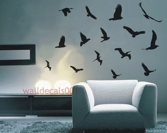 Vinyl Wall Sticker,Decal,Art,Home Decors,Graphic - flying birds