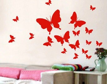 Wall Art Decor Murals Vinyl Decals Stickers---20 butterflies