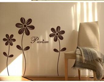 Vinyl wall sticker wall decal art-lovely flower