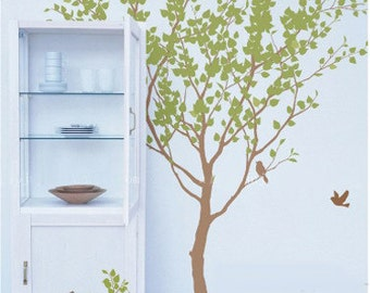 Vinyl tree wall decals wall stickershome decal room decor wall decor wall art-Tree with Birds