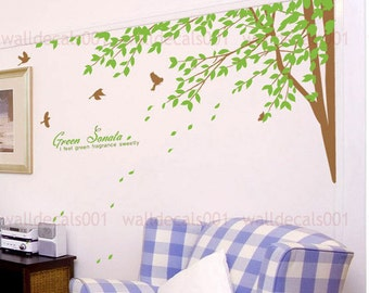 wall decals wall stickers  tree decals  - Green Sonata