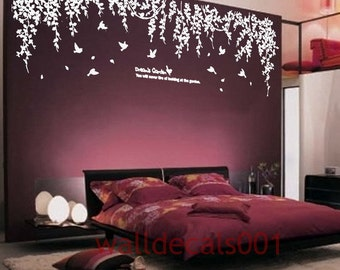Vinyl wall decals wall stickers tree decals wall murals wall decor home decor - Dream's garden