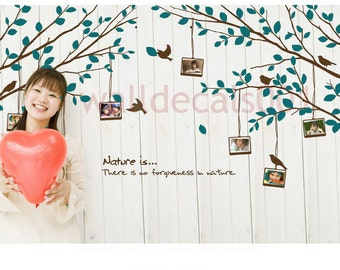 Wall decals, Tree decals wall stickers-Tree with photo frame