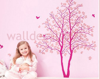 Baby Nursery Wall Decal Wall sticker Tree Decals Murals,decor,wall art-tree wtih birds
