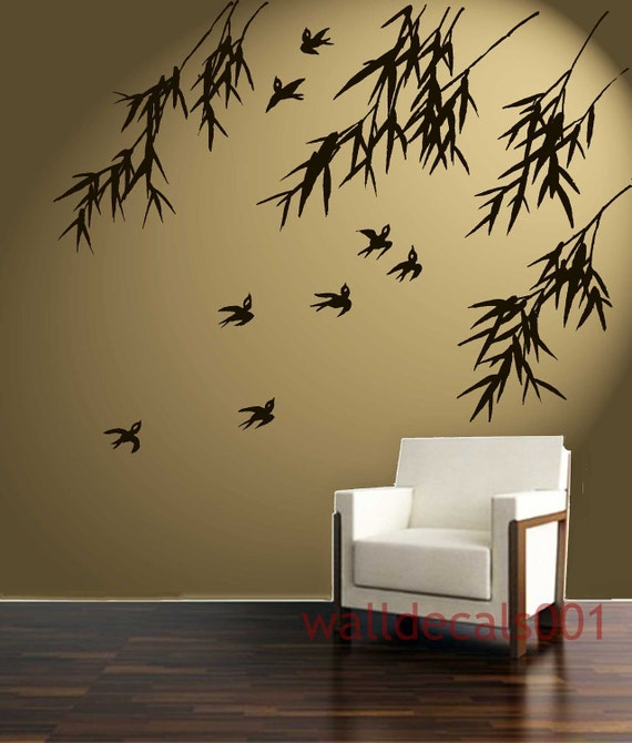 Wall Decals Wall Stickers Art Birds With Bamboo - Zen wall decals