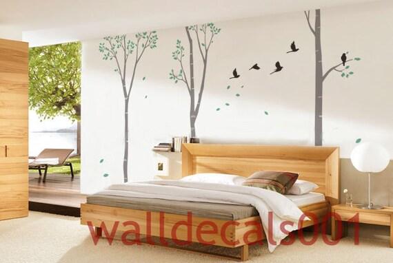 stickers muraux d co murale bouleau arbre nature chambre. Black Bedroom Furniture Sets. Home Design Ideas
