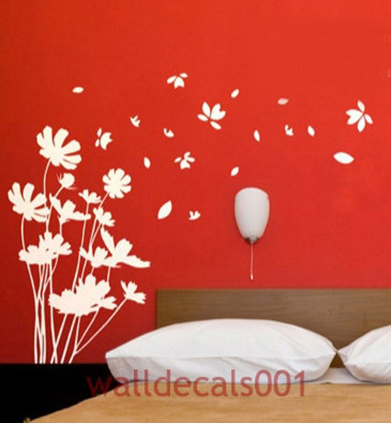 Vinyl Wall Decal Wall sticker Flower decal Nature Room Decor wall murals wall decor wall art-trailing flower