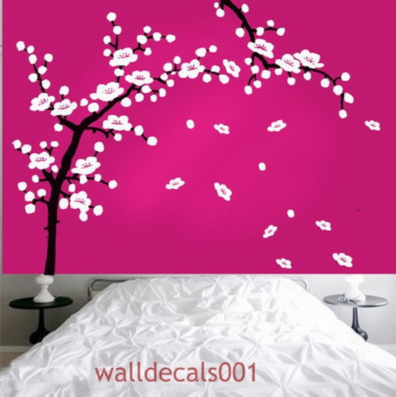 Vinyl wall stickers wall decals -cherry blossom