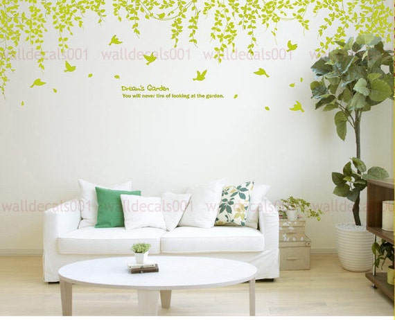 Vinyl Wall Decals ,Wall Stickers Tree Decals- Dream's garden