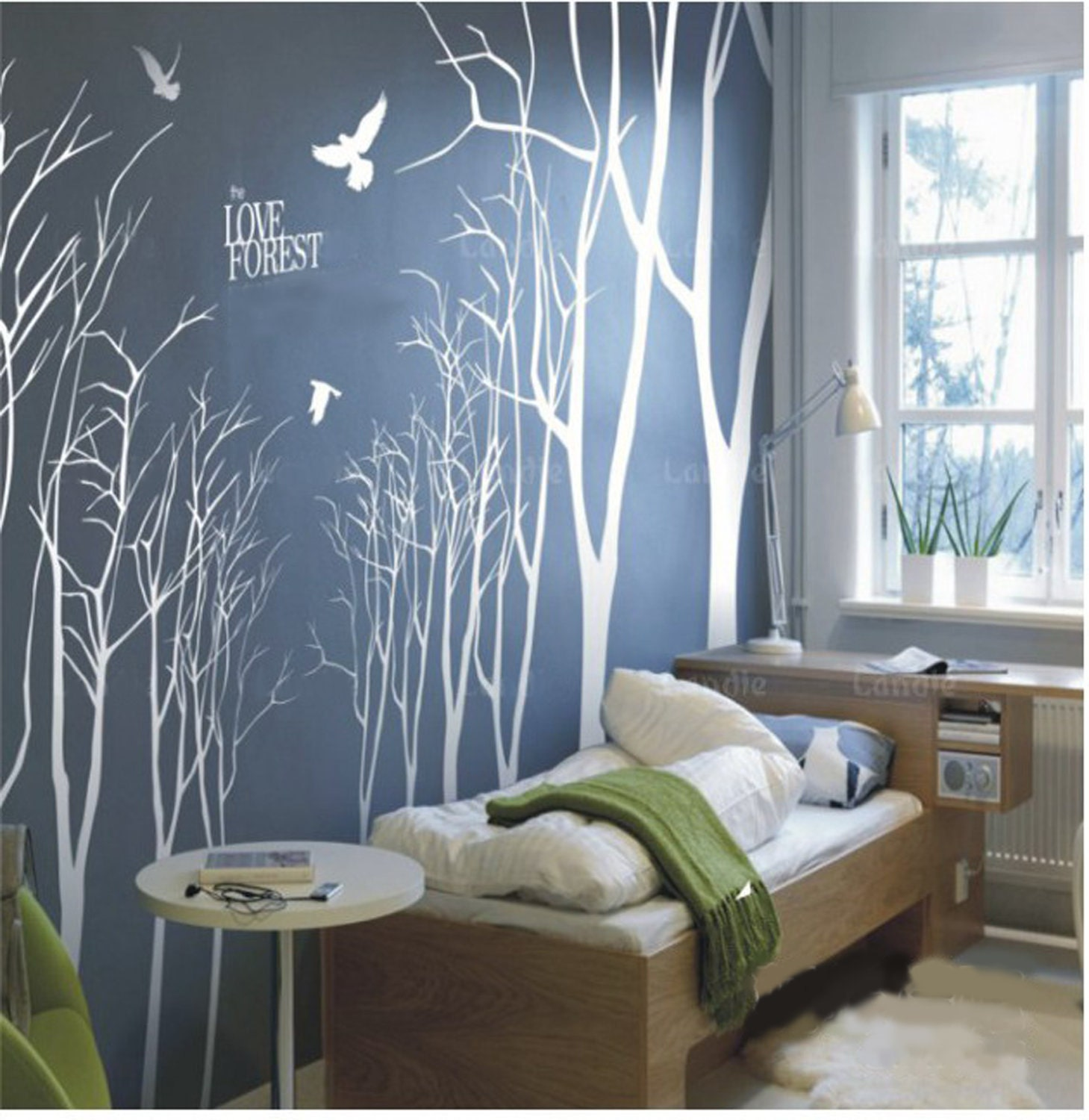 vinyl wall decals wall stickesr tree decal muralswall art 14. Black Bedroom Furniture Sets. Home Design Ideas