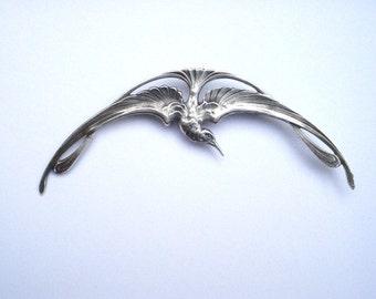 Bird of paradise brooch