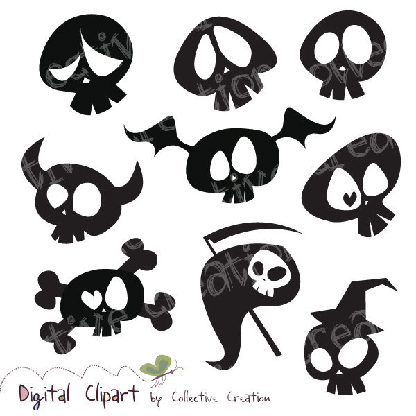 This shop is on vacation Halloween Skull Silhouette