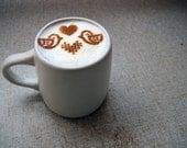 Love Birds Decoration - Cake stencil, Coffee stencil