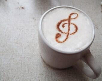 Coffee STENCIL - Music - Elegant Food Decoration